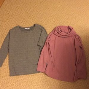 Cupcakes and cashmere lot of 2 tops.